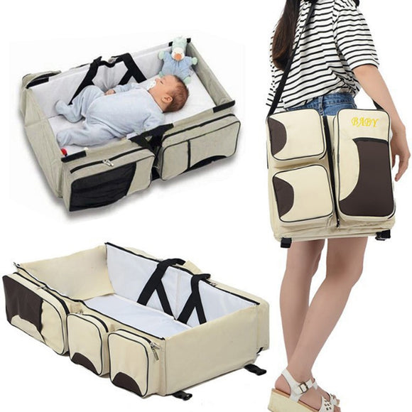 2019 New Arrival Multi-function portable Bed Travel Bed Cradle Cot For Newborns Infants Babies Big Capacity Mummy Bag Baby Crib