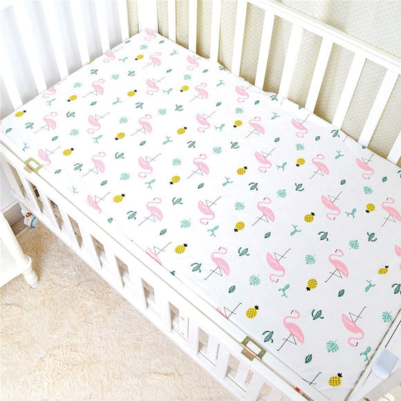 Baby Bed Sheet Crib Sheet Cartoon Animal Printed Colchon Toddler Cot Cover 100% Cotton High Quality Baby Bedding Sets Baby Sheet