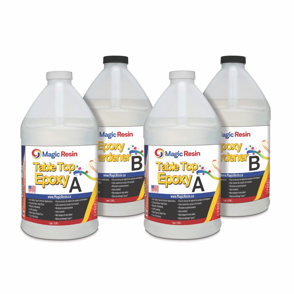 4 Gallon (15.2 L) | Premium Quality Clear Epoxy Resin Kit | Free Shipping-Magic Resin