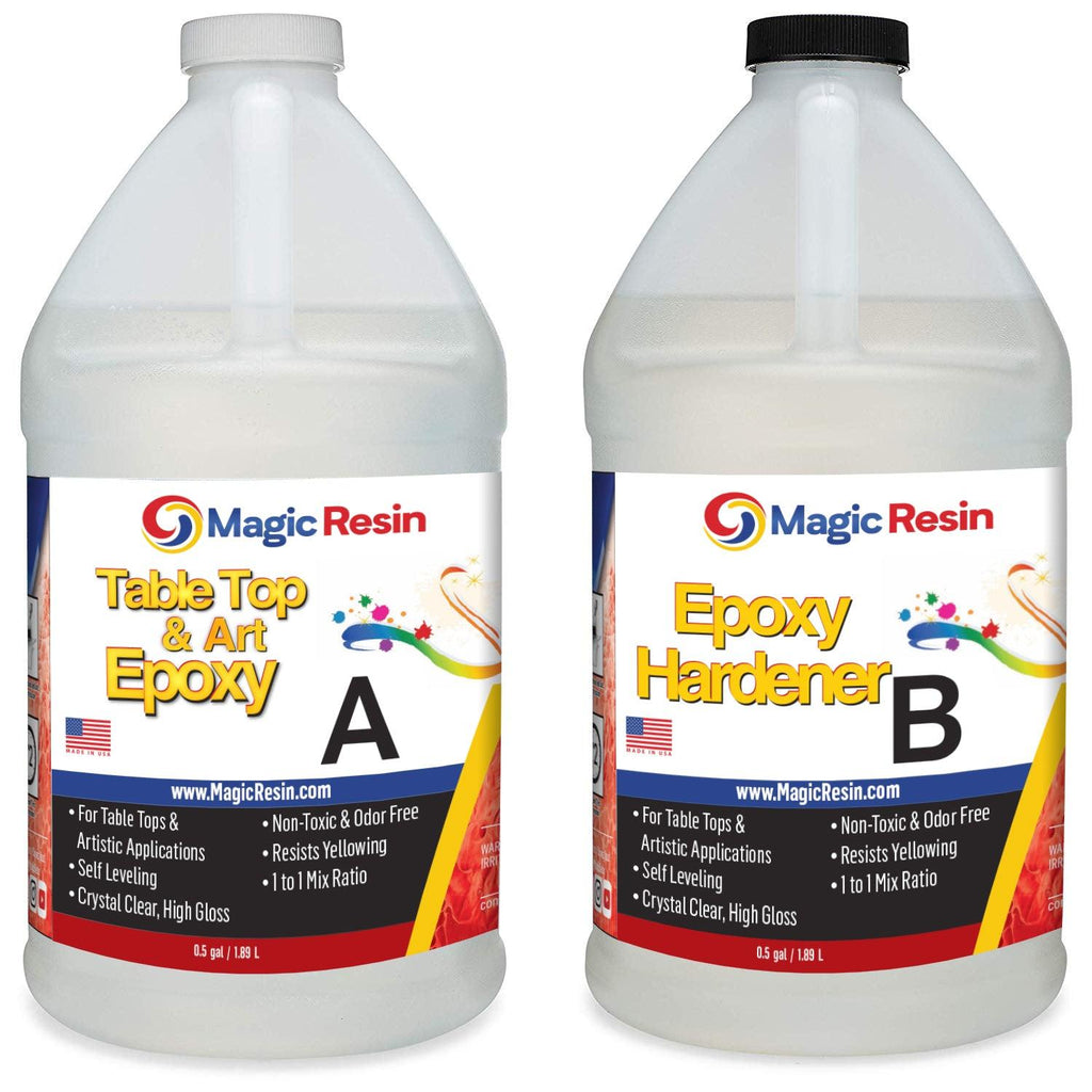 1 Gallon (3.8 L) | Premium Quality Clear Epoxy Resin Kit | Free Shipping-Magic Resin