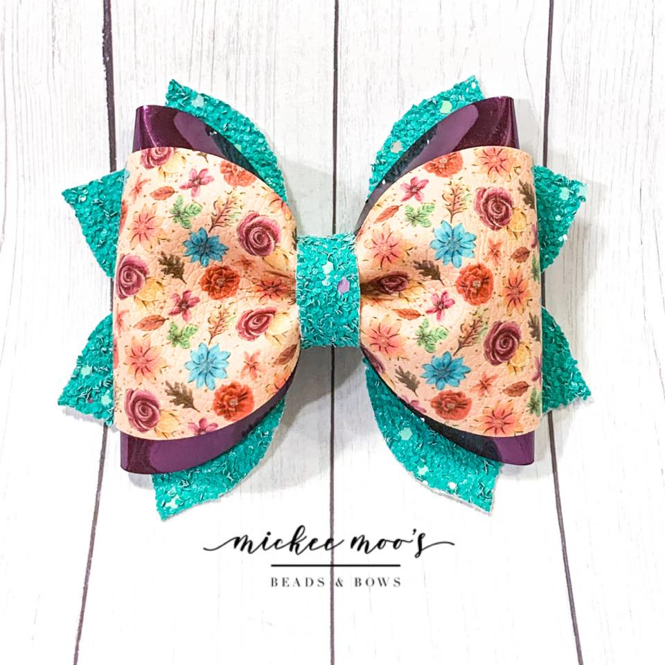 PSL Floral Phoebe Bow