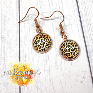Leopard Print Dome Earrings