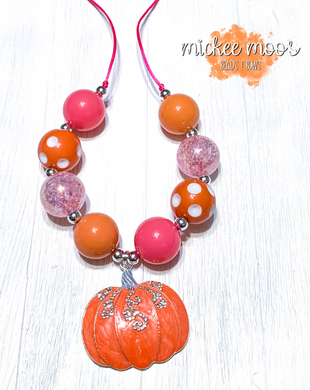 Pretty Pumpkin Adjustable Necklace