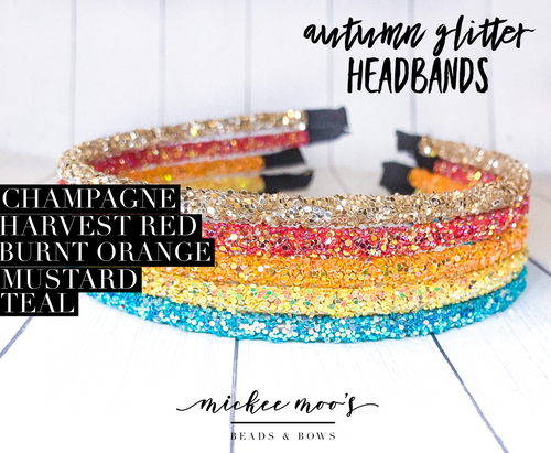 Autumn Glitter Headbands