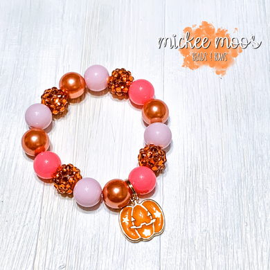 Pretty Pumpkin Stretch Bracelet