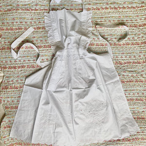 Hand Embroidered Ghostess Apron