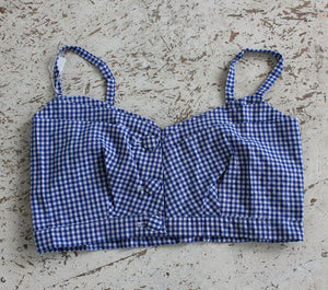 Vintage Gingham cropped top