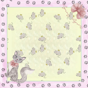 Cat and Mouse silk Scarf