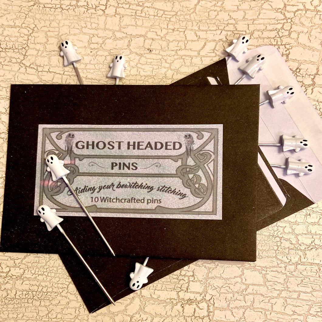 Ghost Headed Sewing Pins