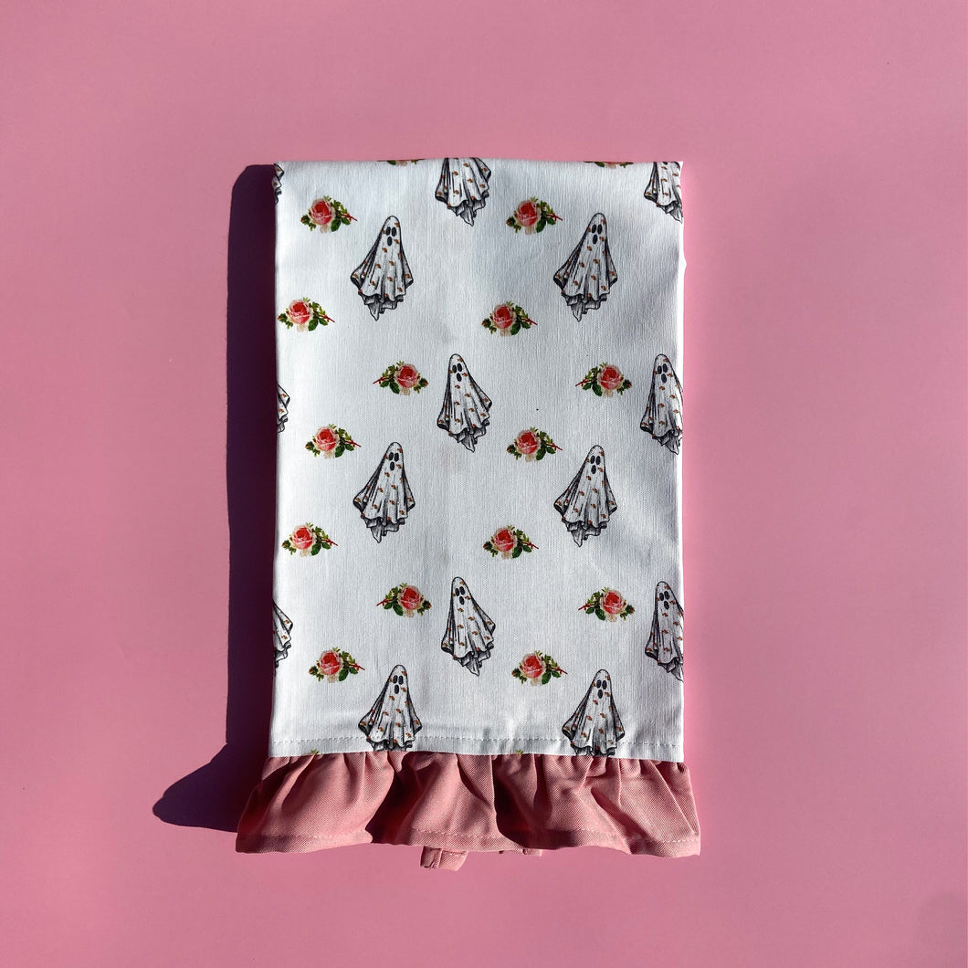 Floral Ghost Tea Towel