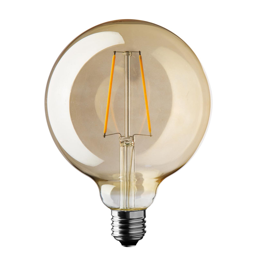LAMPADA LAMPADINA GLOBO VINTAGE ANTIQUE LED E27 SFERA ANTICHIZZATA 125 MM DIAMETRO (2.5 WATT)