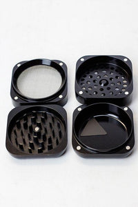 Infyniti 4 parts Black Zinc Grinder w/Storage - Lake shore vibe