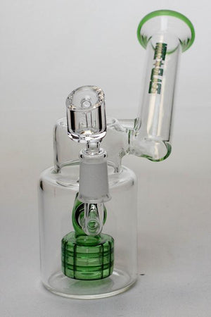 7 in. NG shower head oil rig with banger - Lake shore vibe