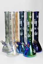 "Load image into Gallery viewer, 18"" Infyniti leaf 7 mm metallic glass water bong"