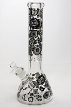 "Load image into Gallery viewer, 13.5"" Glow in the dark 9 mm glass water bong - 19085"