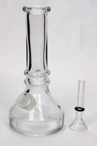 "6"" heavy clear soft glass water bong"