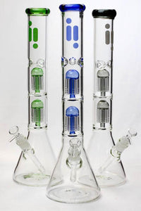 "17.5"" Infyniti Dual 8 tree arms glass water bong"