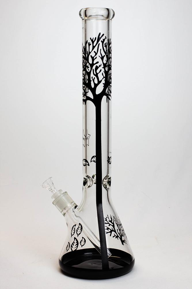 "18"" Tree of Life 7mm classic beaker glass bong - Lake shore vibe"