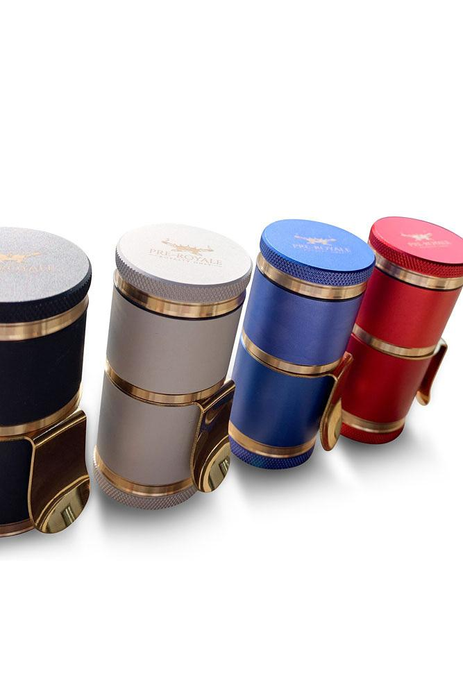 Mini Royale G Luxury Herb Grinder Metal Anodized Aerospace Aluminum - Lake shore vibe