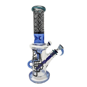 "Cheech - 14"" Pipeline Slits Design Water Pipe - 3 Colors Available (1 Count)"
