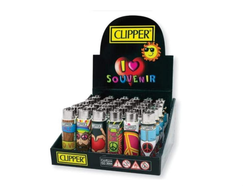 Clipper POP Lighters - Hippie Chic 2 (30 Count Display) - Lake shore vibe