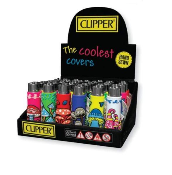 Clipper POP Lighters - Mushroom Cover (30 Count Display)