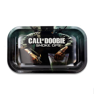Call Of Doobie Metal Tray - Small or Medium Available - (1 Count ) - Lake shore vibe