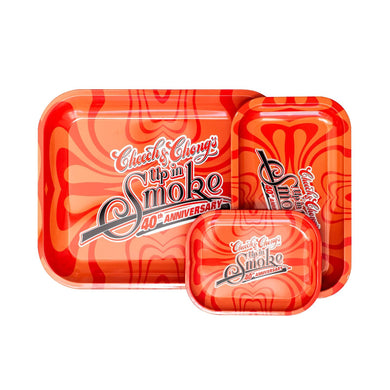 Cheech & Chong - 40Th Anniversary - Small, Medium, or Large Tray - Red (1 Count)