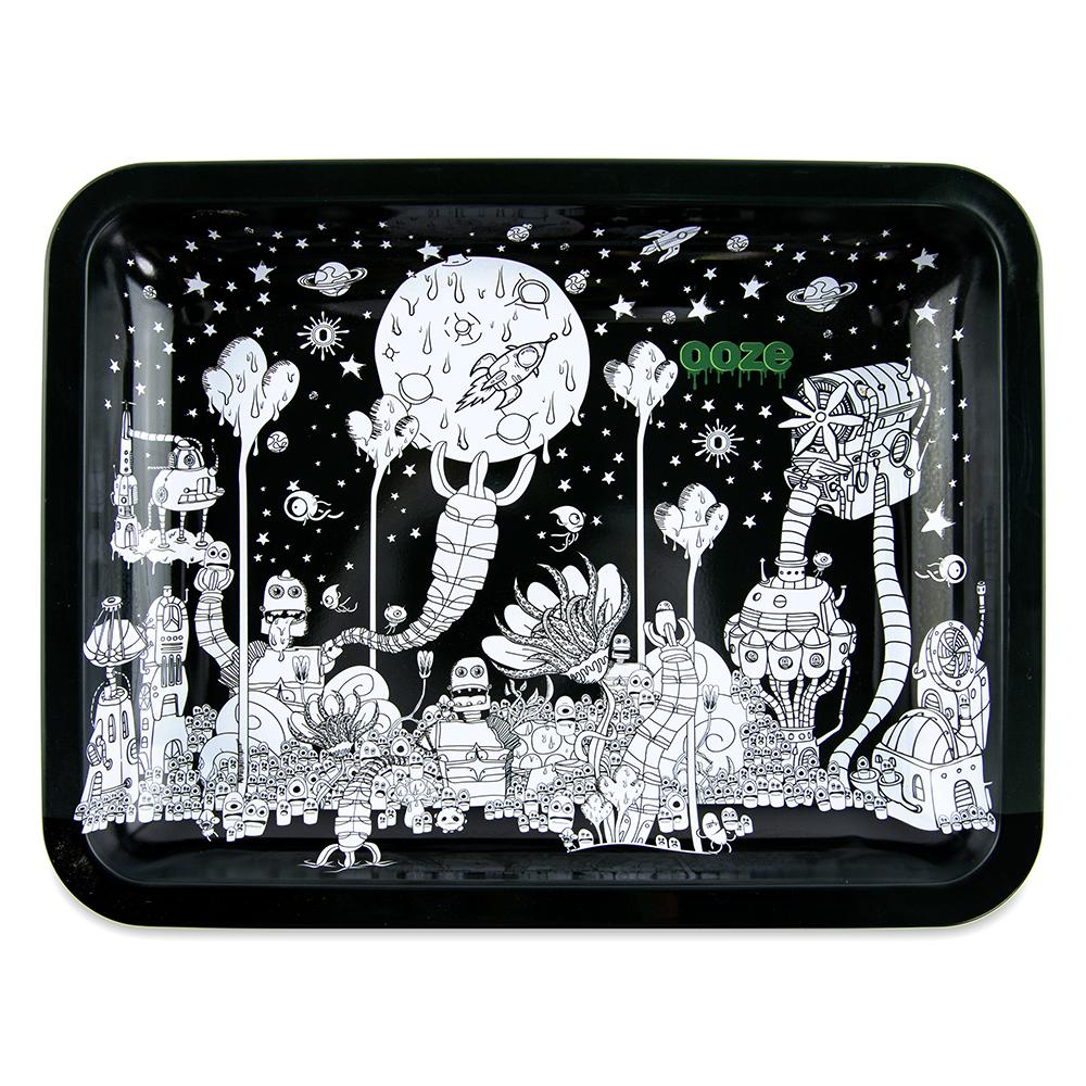 "OOZE - ""Dystopia"" - Metal Rolling Tray - Small, Medium or Large (1 Count) - Lake shore vibe"