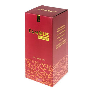 "Famous Brandz - ""Contact"" - 10"" Water Pipe - (1 Count)"