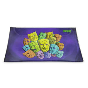 "OOZE - ""Mood Swings"" - Shatter Resistant Glass Tray - Small or Medium (1 Count)"