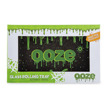 "Load image into Gallery viewer, OOZE - ""Ooze Slime Logo"" - Shatter Resistant Glass Tray - Small or Medium (1 Count) - Lake shore vibe"