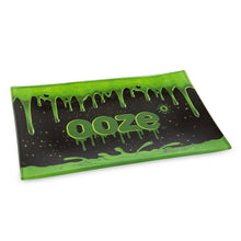 "Load image into Gallery viewer, OOZE - ""Ooze Slime Logo"" - Shatter Resistant Glass Tray - Small or Medium (1 Count)"