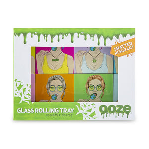 "OOZE - ""Candy Shop"" - Shatter Resistant Glass Tray - Small or Medium (1 Count)"