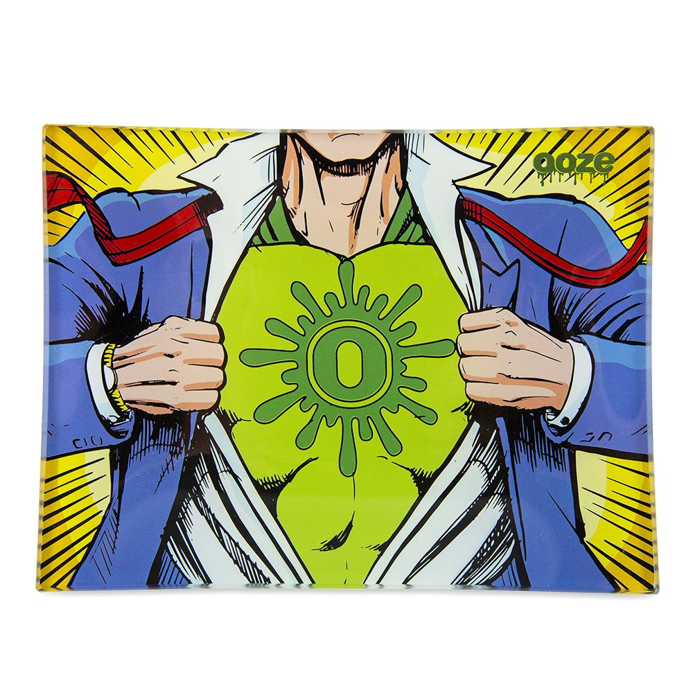 "Ooze - ""Captain O"" - Shatter Resistant Glass Tray - Small or Medium (1 Count) - Lake shore vibe"