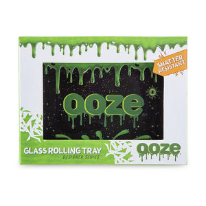 "OOZE - ""Ooze Slime Logo"" - Shatter Resistant Glass Tray - Small or Medium (1 Count) - Lake shore vibe"