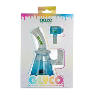 OOZE Glyco Glycerin Chilled Glass Water Pipe - Various Colors