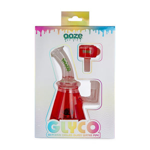OOZE Glyco Glycerin Chilled Glass Water Pipe - Various Colors (1 Count) - Lake shore vibe