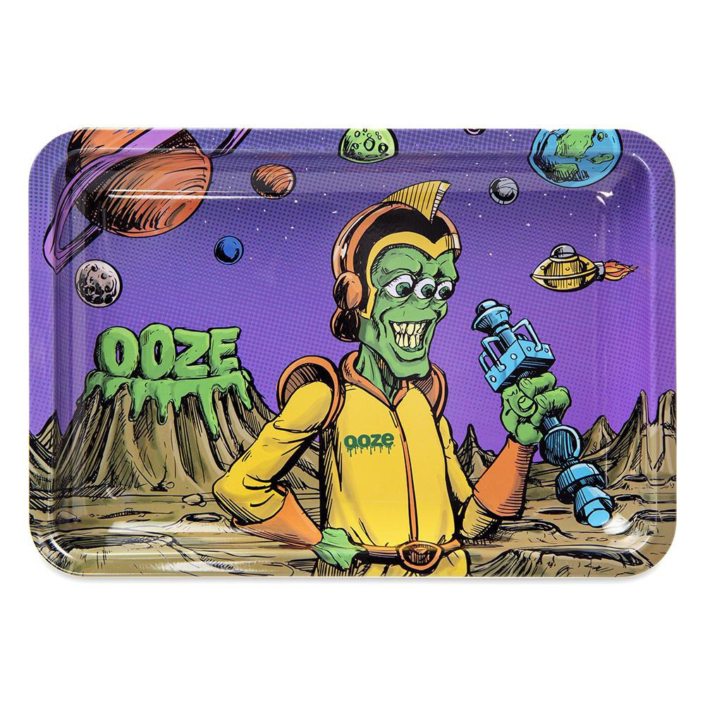 "OOZE - ""Invasion"" - Metal Rolling Tray - Small, Medium or Large (1 Count) - Lake shore vibe"