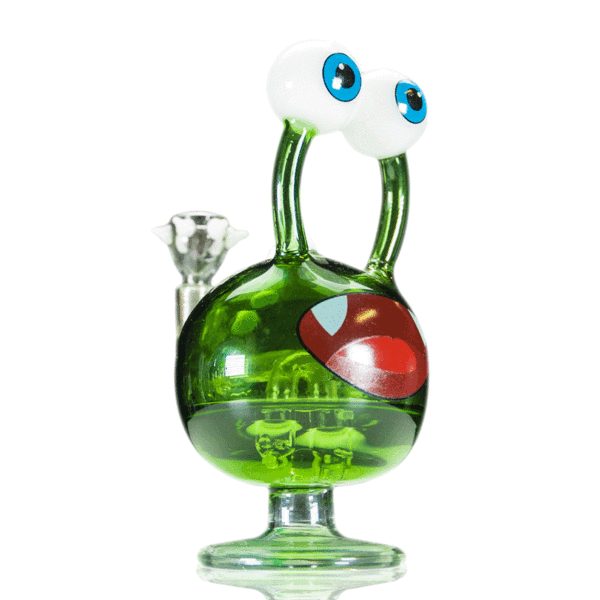 Hemper - Globegoblin Monster Bong - 1 Count - (Available in Blue & Green) - Lake shore vibe
