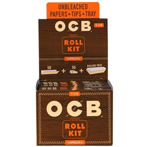 OCB Virgin Unbleached Papers Roll Kit 1 1/4 Size (20 Count Display)