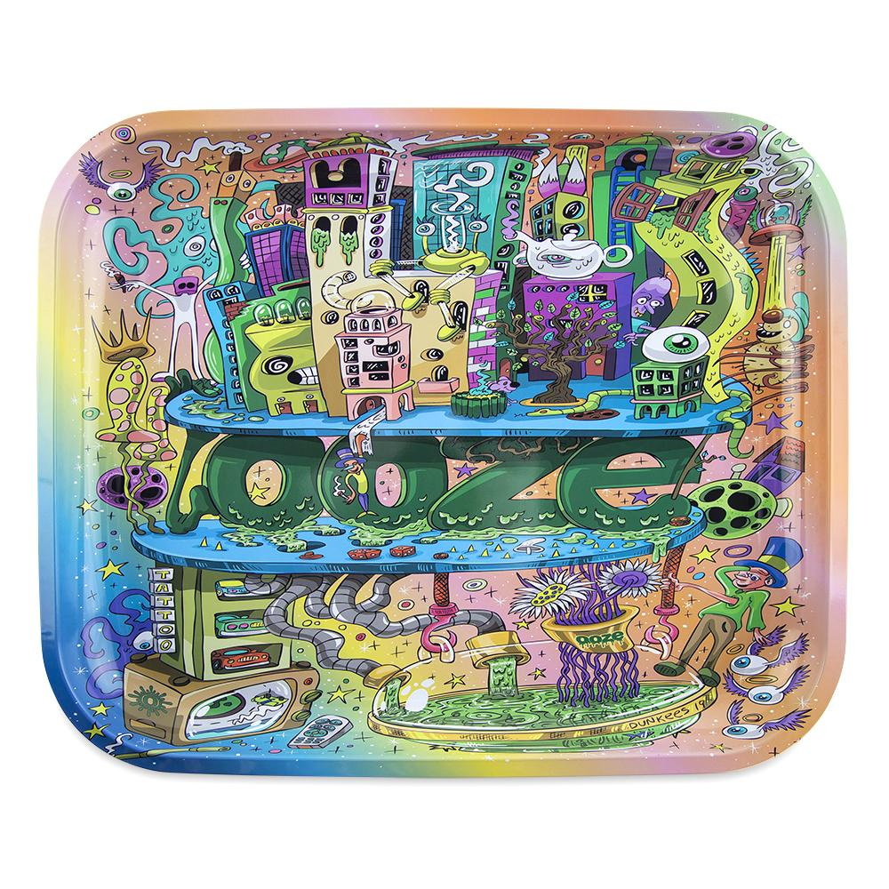 "OOZE - ""Oozeville"" - Metal Rolling Tray - Small, Medium or Large (1 Count) - Lake shore vibe"