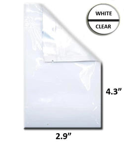 "Mylar Bag Vista White/Clear - 1 Gram - 4.3 x 2.9"" (100 to 20,000 Count)"