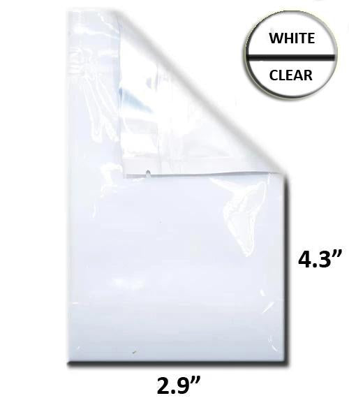 Mylar Bag Vista White/Clear - 1 Gram - 4.3 x 2.9