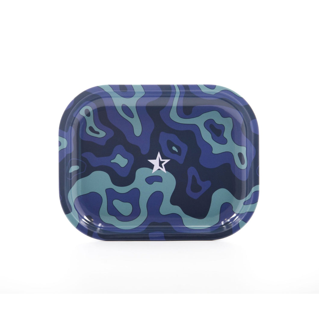 Famous Design Fabric Rolling Tray - Small or Medium Tray - (1 Count) - Lake shore vibe