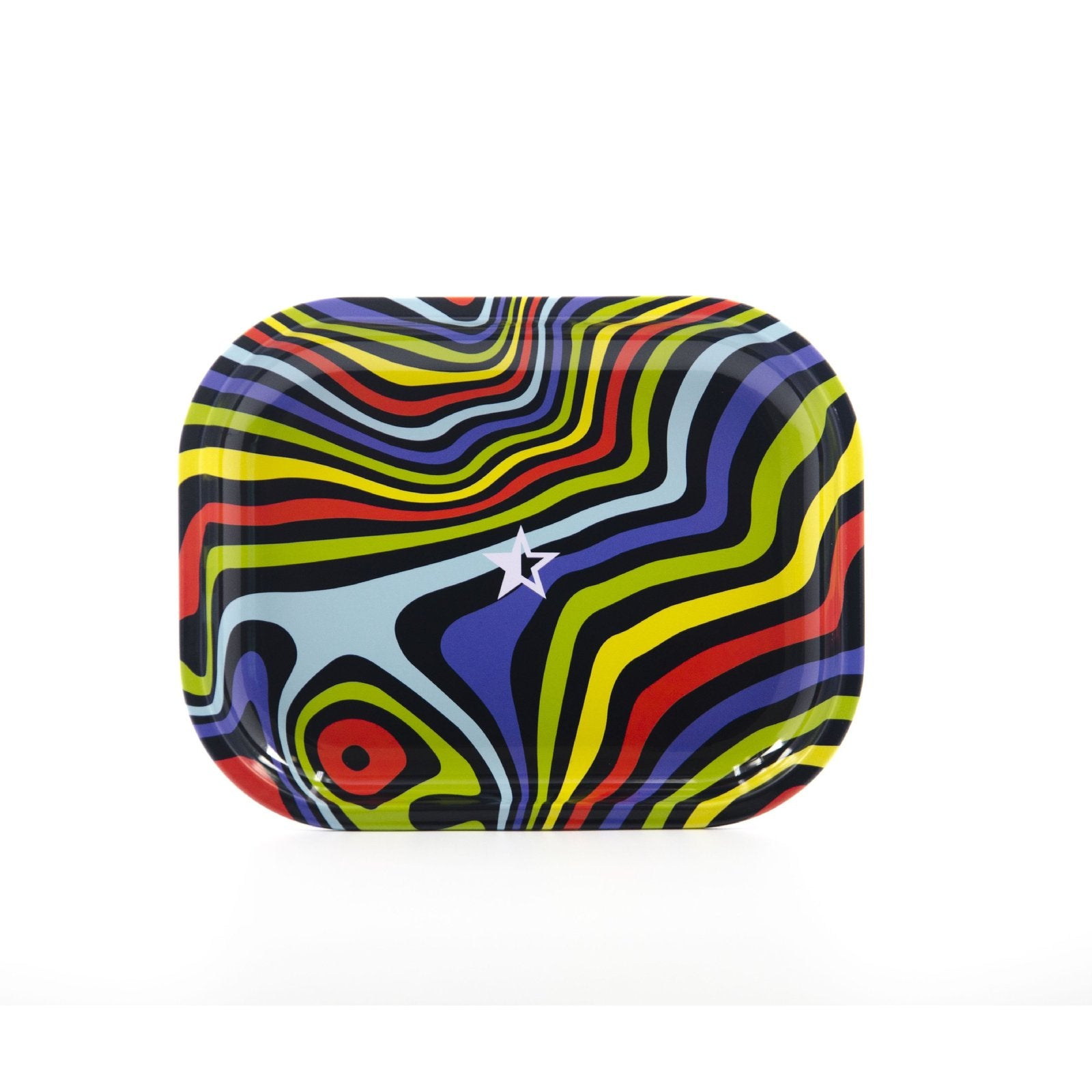 Famous Design Amnesia Rolling Tray - Small or Medium Tray - (1 Count) - Lake shore vibe