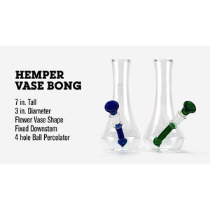 Hemper Vase Bong - Available in Various Colors - (1 Count)
