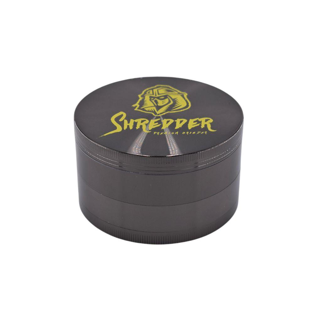 SHREDDER Premium Grinder 4 Part - 75mm - Gun Black (1 Count) - Lake shore vibe