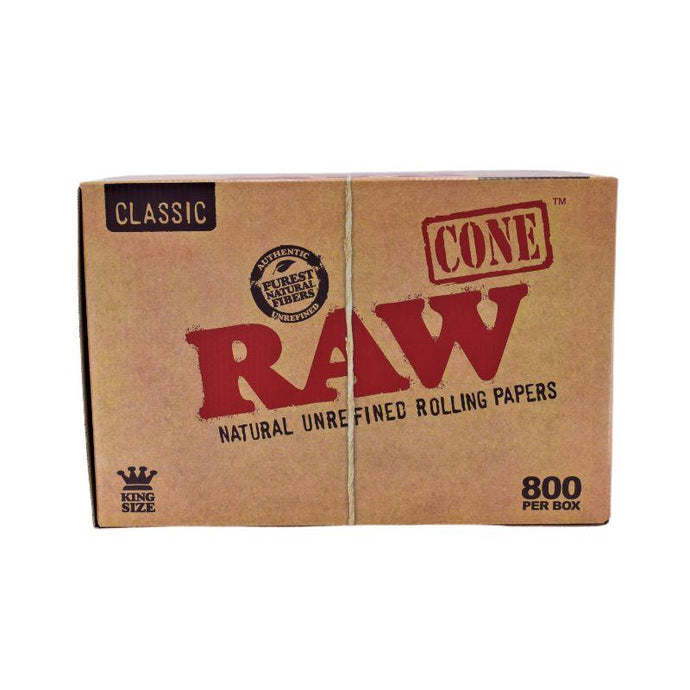 Raw Classic King Size 109mm Cones (800 Count Bulk Box) - Lake shore vibe