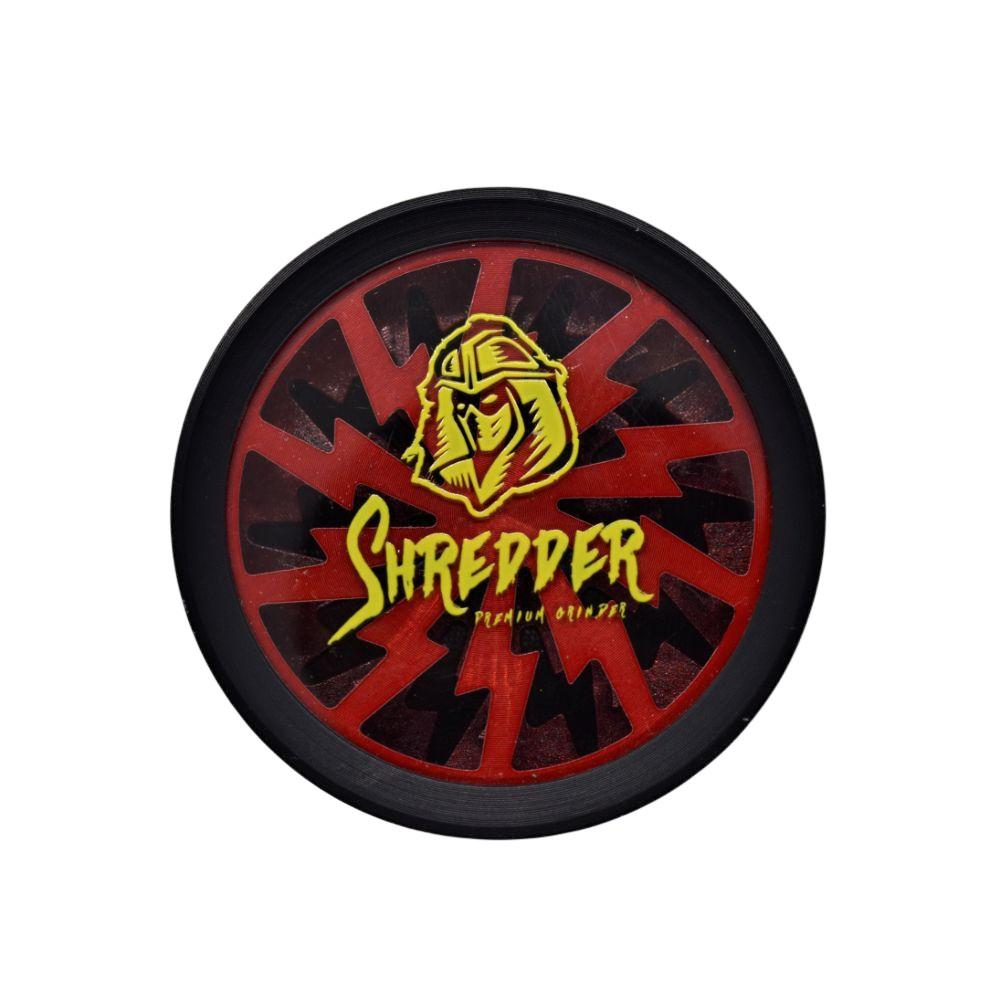 SHREDDER See Through Premium Grinder 4 Part - 55mm - Red (1 Count) - Lake shore vibe